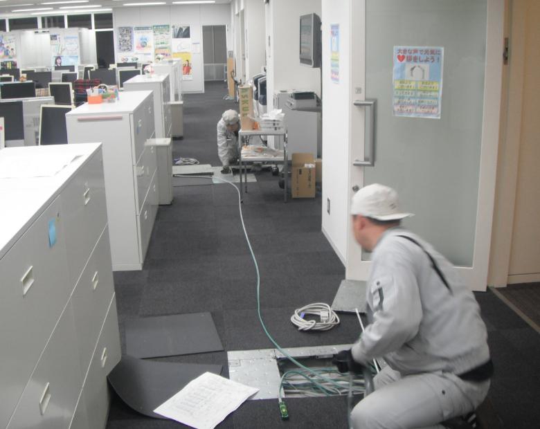 事務所ビル入居工事状況